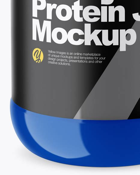 Contains a kaft texture for the carrier. Download Glossy Plastic Protein Jar Mockup High Angle Shot ...