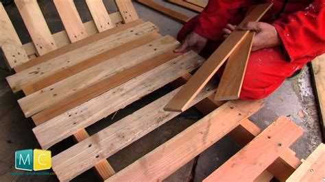 chaise palette palette chaise terrasse en bois