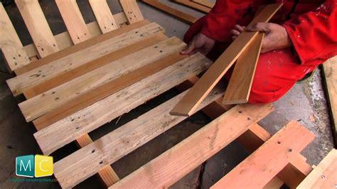 chaise en palette palette chaise terrasse en bois