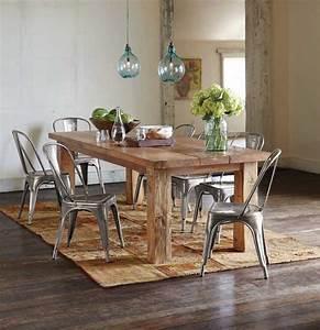 grande table a manger en bois massif avec quelles chaises With deco cuisine avec chaises bois massif salle manger