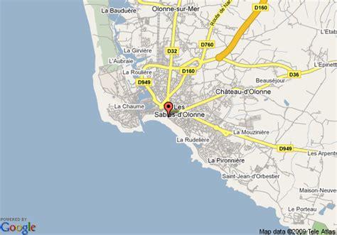 map of best western les roches noires les sables d olonne