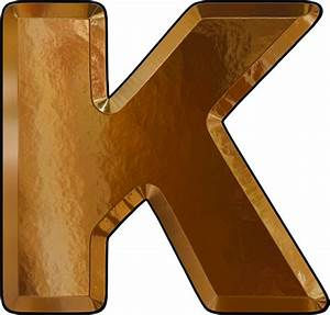 presentation alphabets gold leaf letter k With gold letter k