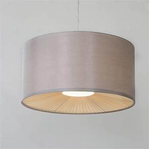 Small ribbon easy to fit ceiling shade drum mocha from