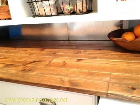 diy counters   splash   budget wood