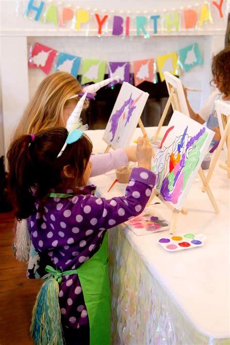 karas party ideas magical unicorn art birthday party
