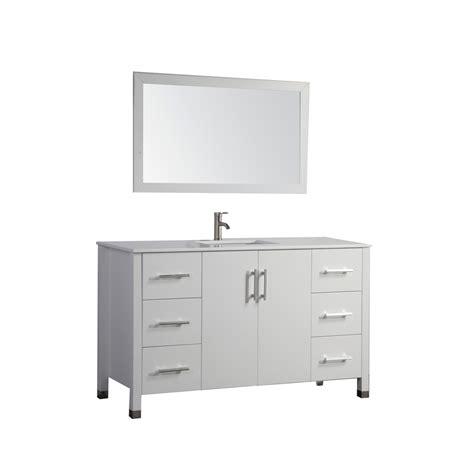 Sink Vanity Top 60 by Shop Mtd Vanities White Undermount Single Sink Bathroom