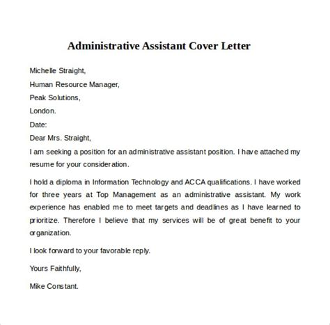 cover letter examples  word
