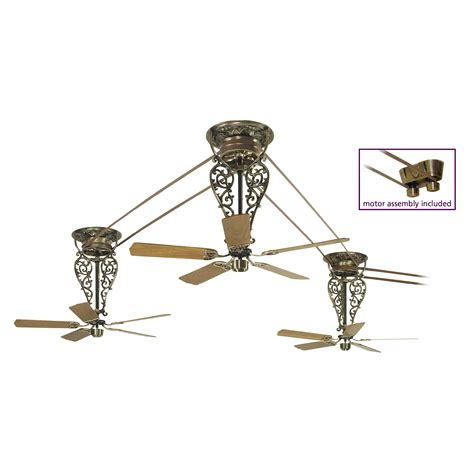 Belt Driven Ceiling Fans Antique by Fanimation Fp580ab 18 L3 Bourbon Collection
