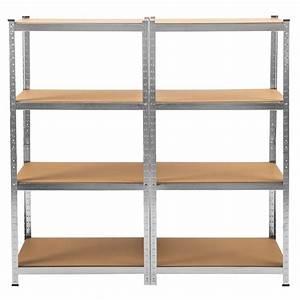 Crémaillère étagère Charge Lourde : tag re 640kg charge lourde metallique de rangement objets ~ Premium-room.com Idées de Décoration