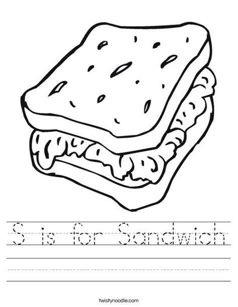 sandwich worksheet twisty noodle