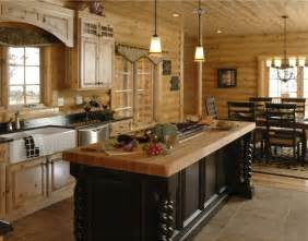 Log Cabin Kitchen Island Ideas by Log Home Kitchen Islands Log Cabin Kitchens And