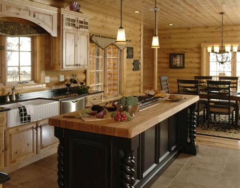 log home kitchen islands log cabin dream kitchens and