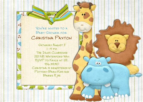 baby shower jungle theme clipart   cliparts