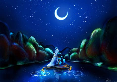 Pictures Disney Aladdin Cartoons Moon Crescent