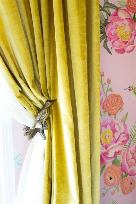 yellow velvet curtains chartreuse velvet curtains home the honoroak 1225