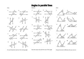 angles in parallel lines level 6 grade c by mrobertson1987 teaching resources