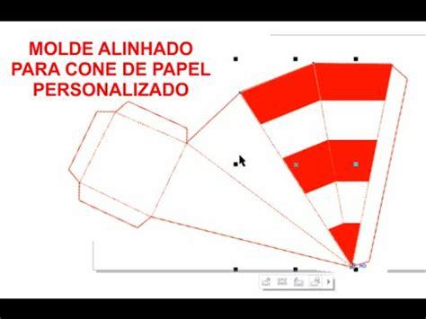 como personalizar o cone de papel com listras retas youtube