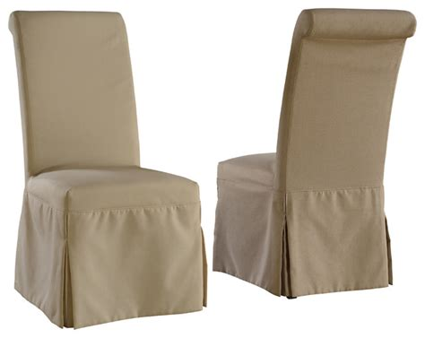 Grey Parson Chair Slipcovers by Regent Linen Parsons Chair With Beige And Gray