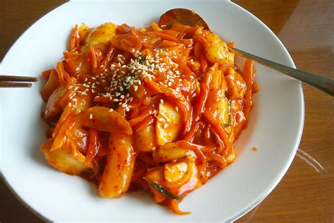 korean dishes korea tteokbokki foods rice try seoul