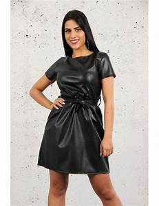 Robe simili cuir brentiny paris for Robe en simili cuir