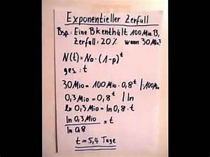 Halbwertzeit Berechnen : exponentielles wachstum und zerfall erkl rung doovi ~ Themetempest.com Abrechnung