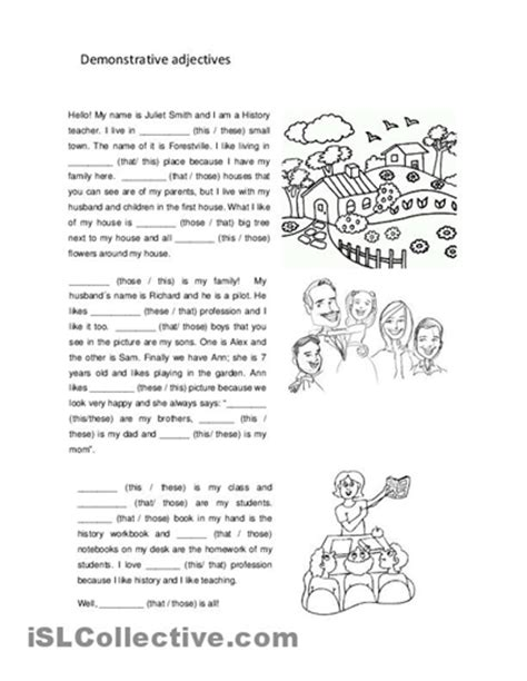 16 best images of adjective worksheets for middle school