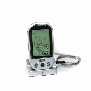 Remote Wireless Cooking Thermometer    Bbq Grill