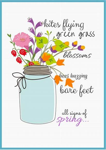 Spring Clipart Signs Quotes Printables Jar Clip