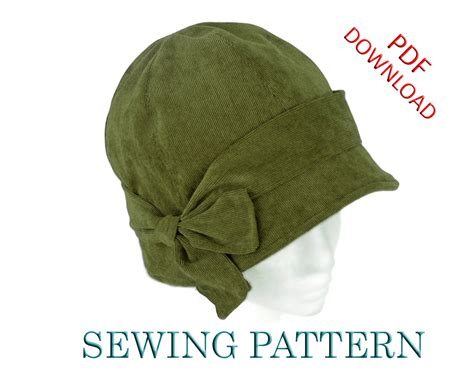 sewing pattern penny  cloche hat  child  adult