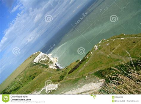 The Dover White Cliffs stock photo. Image of port, chalk ...