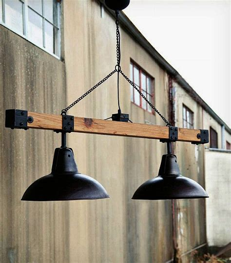 industrial style warehouse light beam id lights