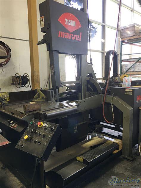 marvel vertical bandsaw tilt frame sterling machinery