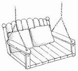 Swing Porch Coloring Garden Template Pages Sketch Templates sketch template