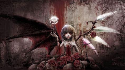Bloody Anime Wallpaper - touhou blood wings wallpaper