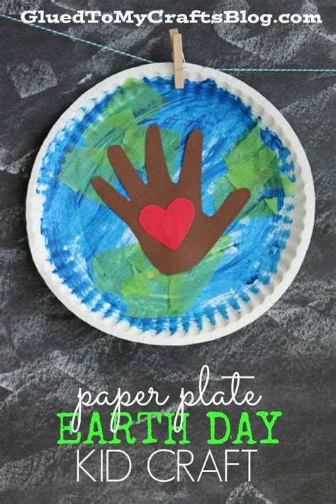 paper plate earth day kid craft earth day crafts