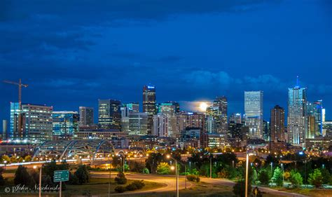denver skyline  city park