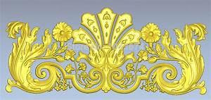 Door flower 3d relief models to cnc artcam stl format file