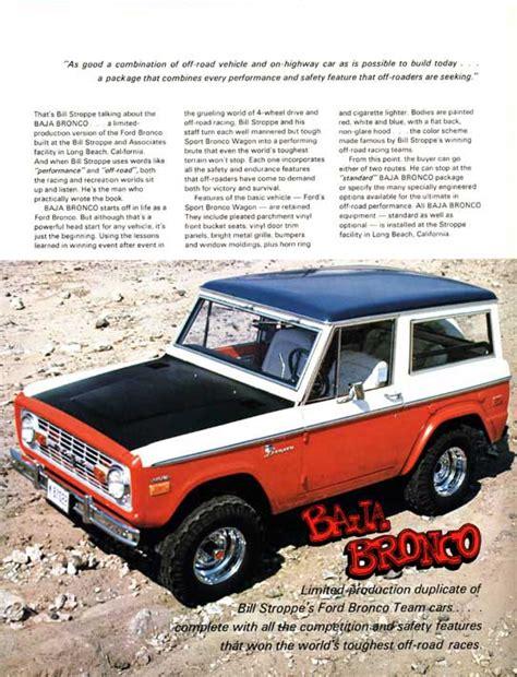 stroppe bronco 1975 ford baja bronco