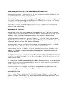 the resume center salary billing specialists expected salary and description