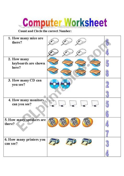 english worksheets computer worksheet