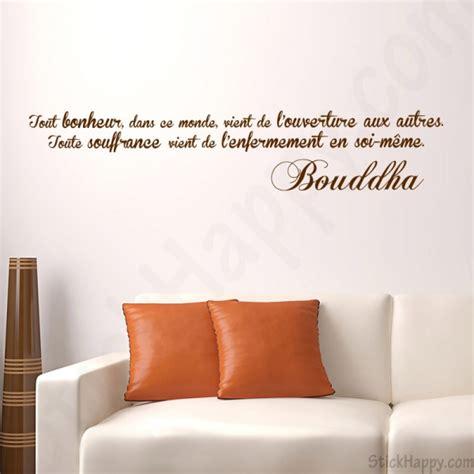 citation pour chambre adulte décoration bouddha bouddhisme sur mur peint stickhappy com
