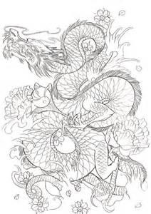 Japanese Dragon Tattoo Outline