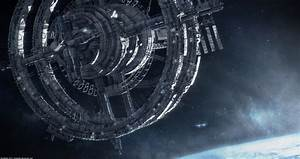 Futuristic Space Station Wallpaper - Pics about space