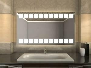 Spiegel Mit Beleuchtung Günstig : badspiegel led nielas quadratische lichtleiste oben und unten ~ Eleganceandgraceweddings.com Haus und Dekorationen