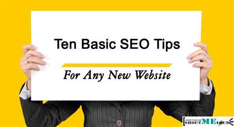 Basic Seo Guide ten basic seo tips for any new website