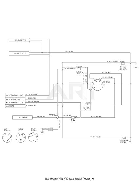 Huskee Mower Electrical Diagram by Mtd 13w277ss031 Lt 4200 2015 Parts Diagram For Wiring