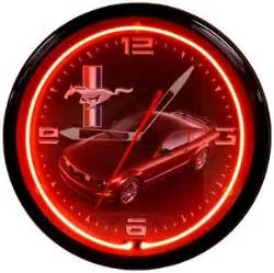 Ford Mustang Black Neon Clock Neon Clocks