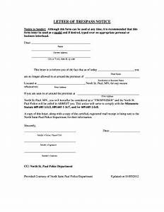 letter trespass notice fill online printable fillable With trespass notice template