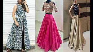 Latest party wear dresses 2018 | crop top with long skirt | crop top and lehenga - YouTube