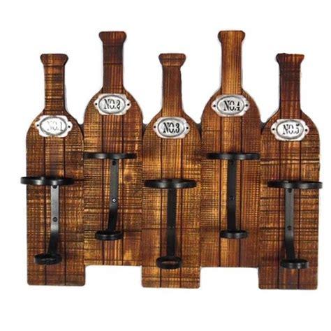 Mensole Porta Bottiglie Portabottiglie In Legno Vintage 5 Posti